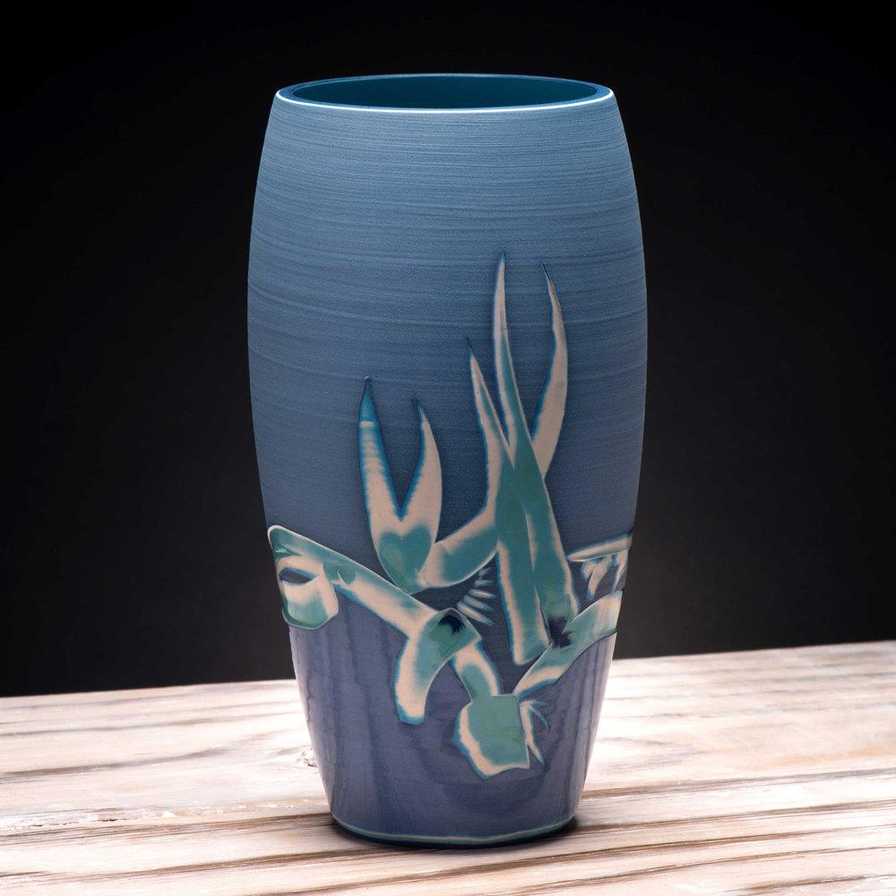 Oriental Style Modern Vase by Rowena Gilbert