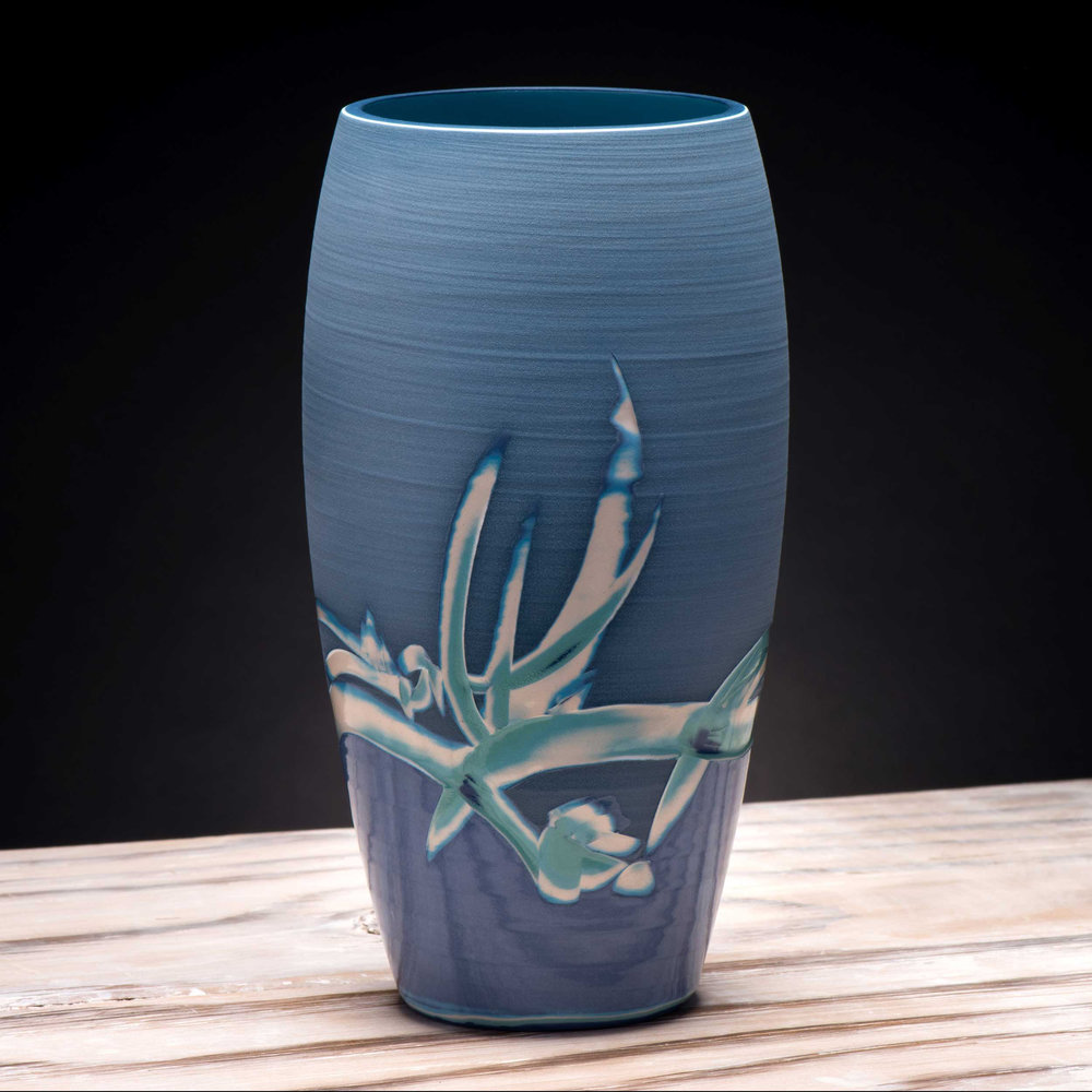 Sea Reed Design Vase by Rowena Gilbert