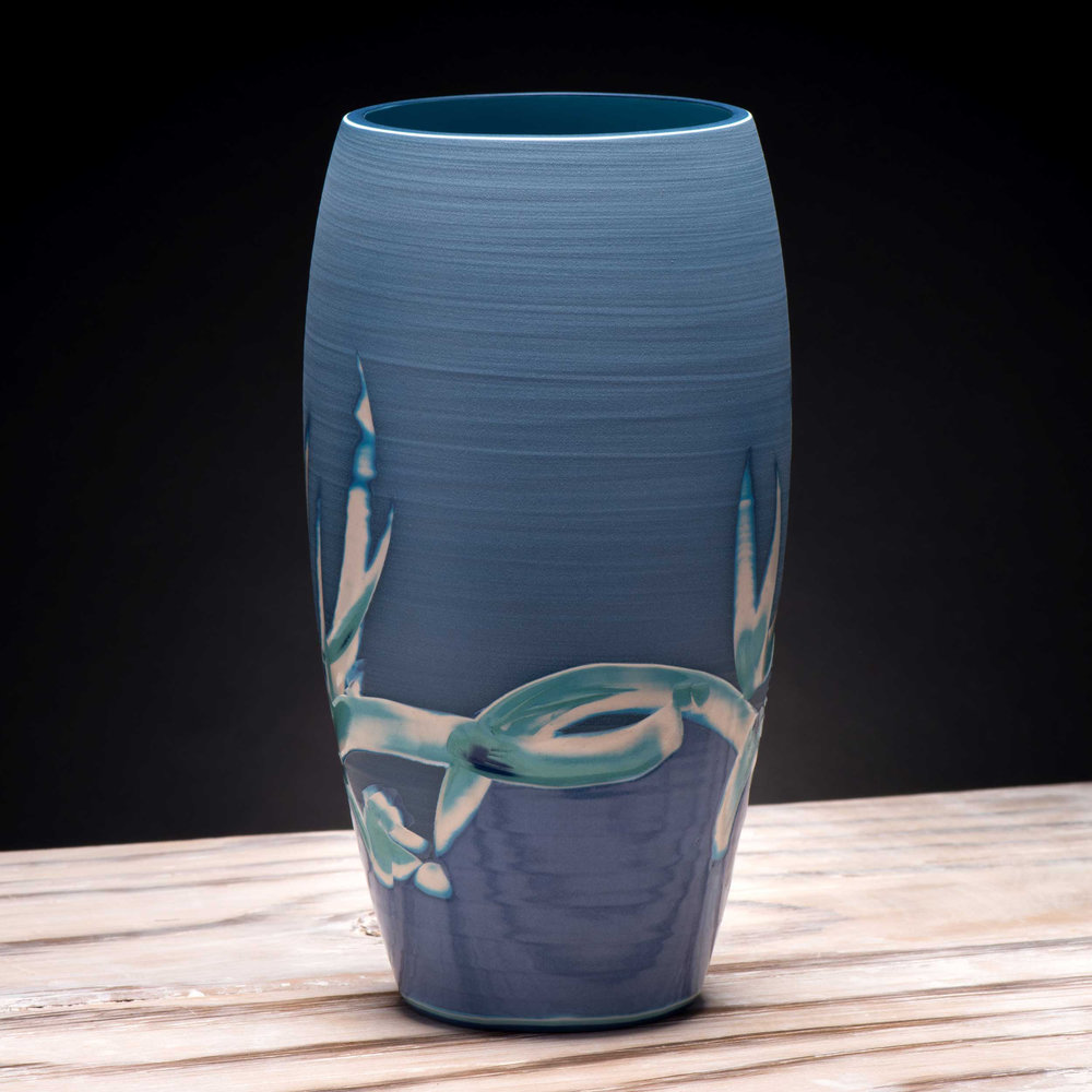 Tropical Sea Vase by Rowena Gilbert