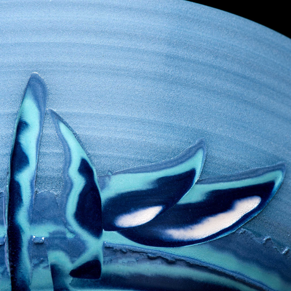 Wave Art Ceramic Bowl Detail Rowena Gilbert Coast Series