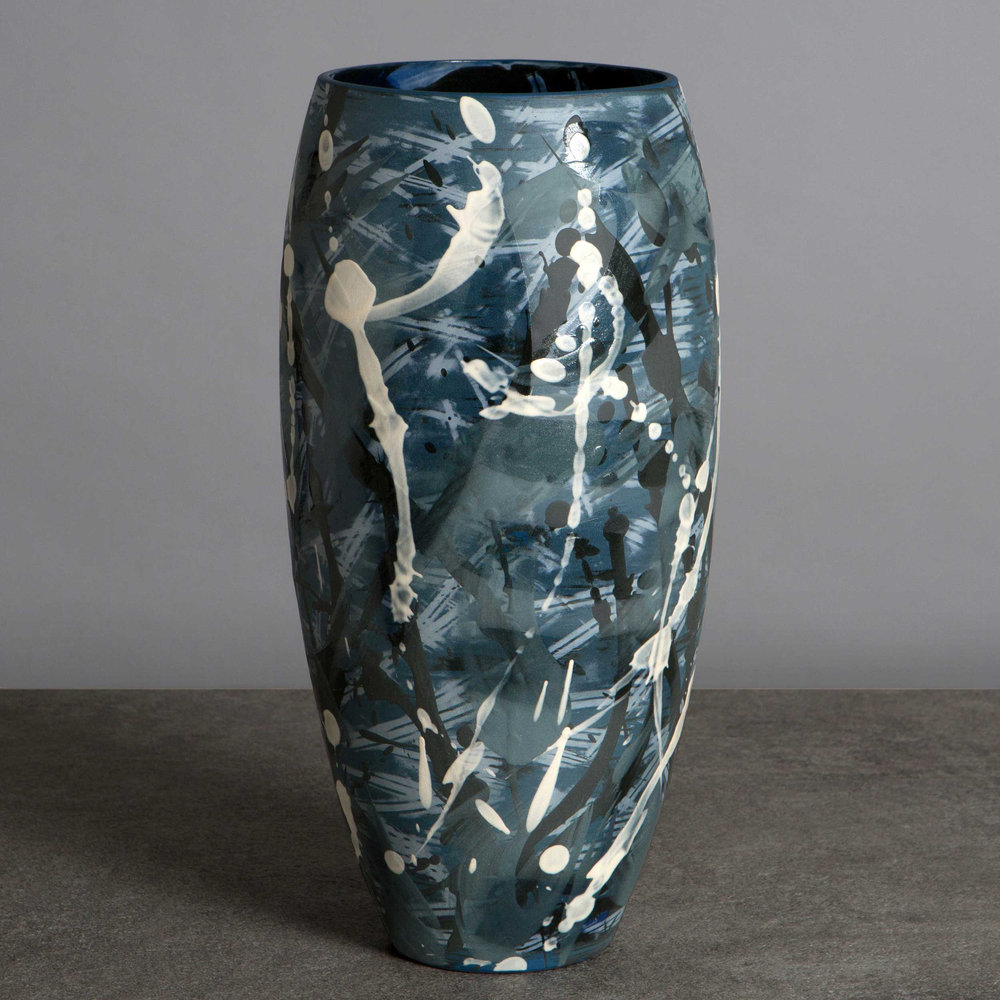 Great Wave Ceramic Vase by Rowena Gilbert Under the Waves Series