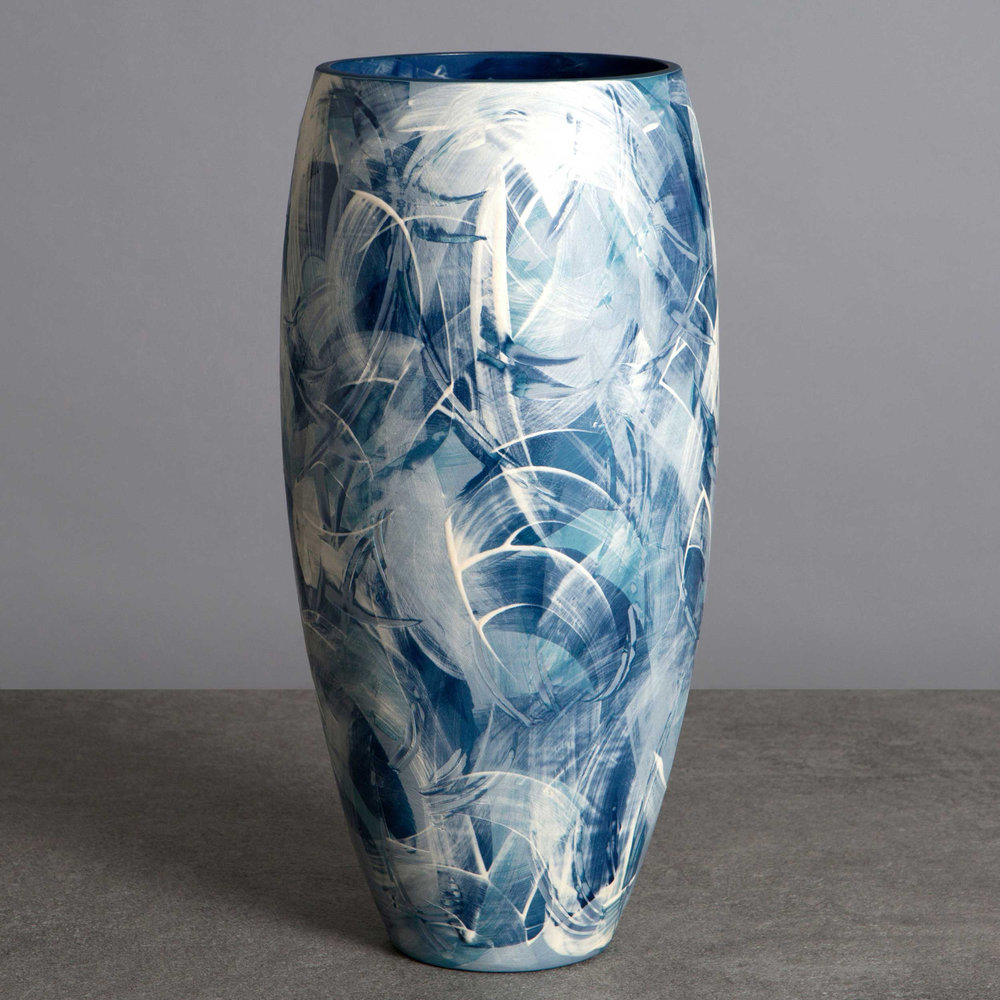 Seascape Ceramic Vase by Rowena Gilbert Under the Waves Series