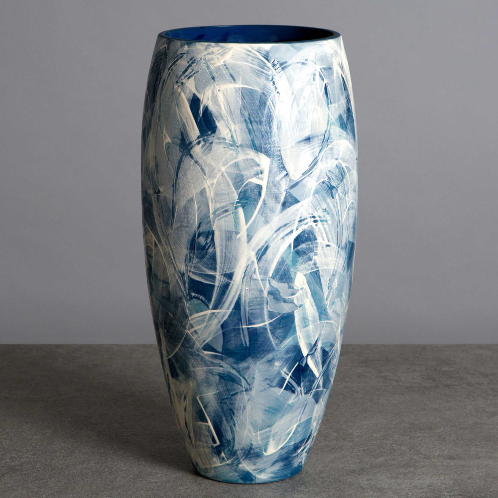 Seascape Wave Ceramic Vase by Rowena Gilbert