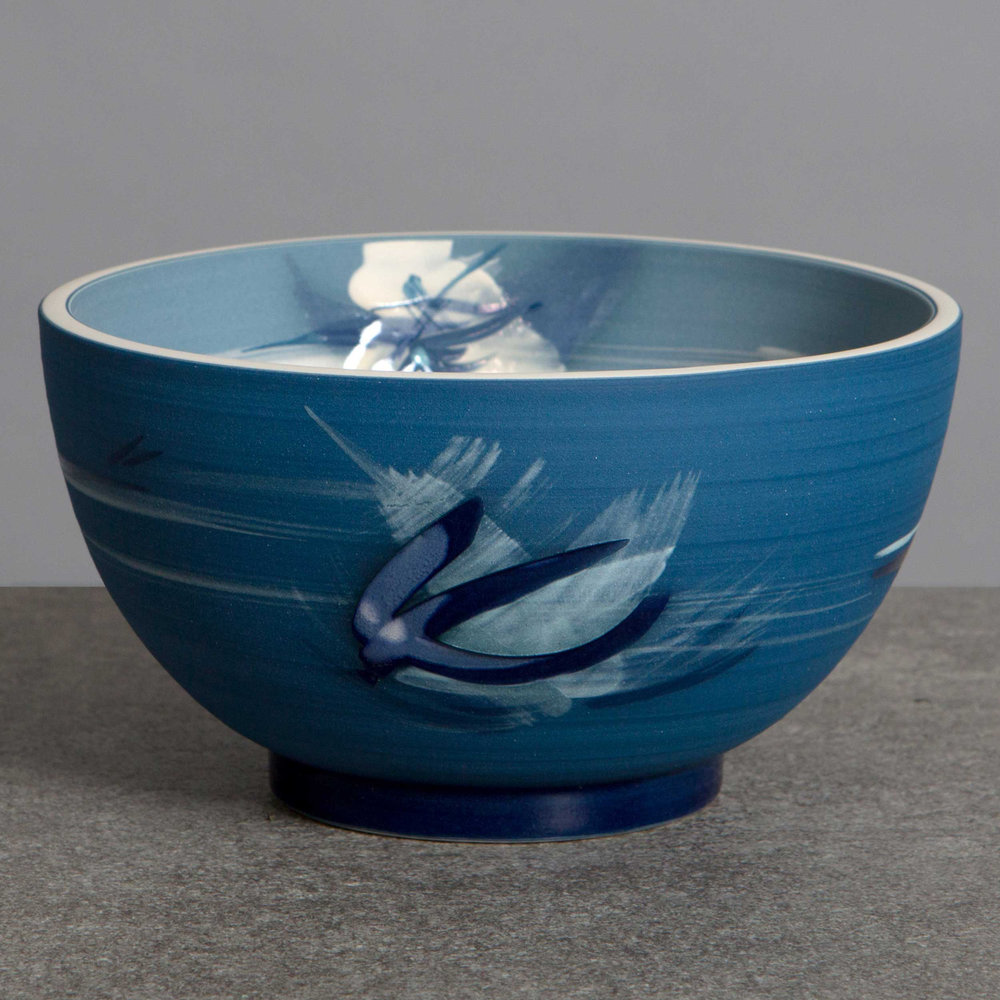 Great Wave Ceramic Bowl by Rowena Gilbert