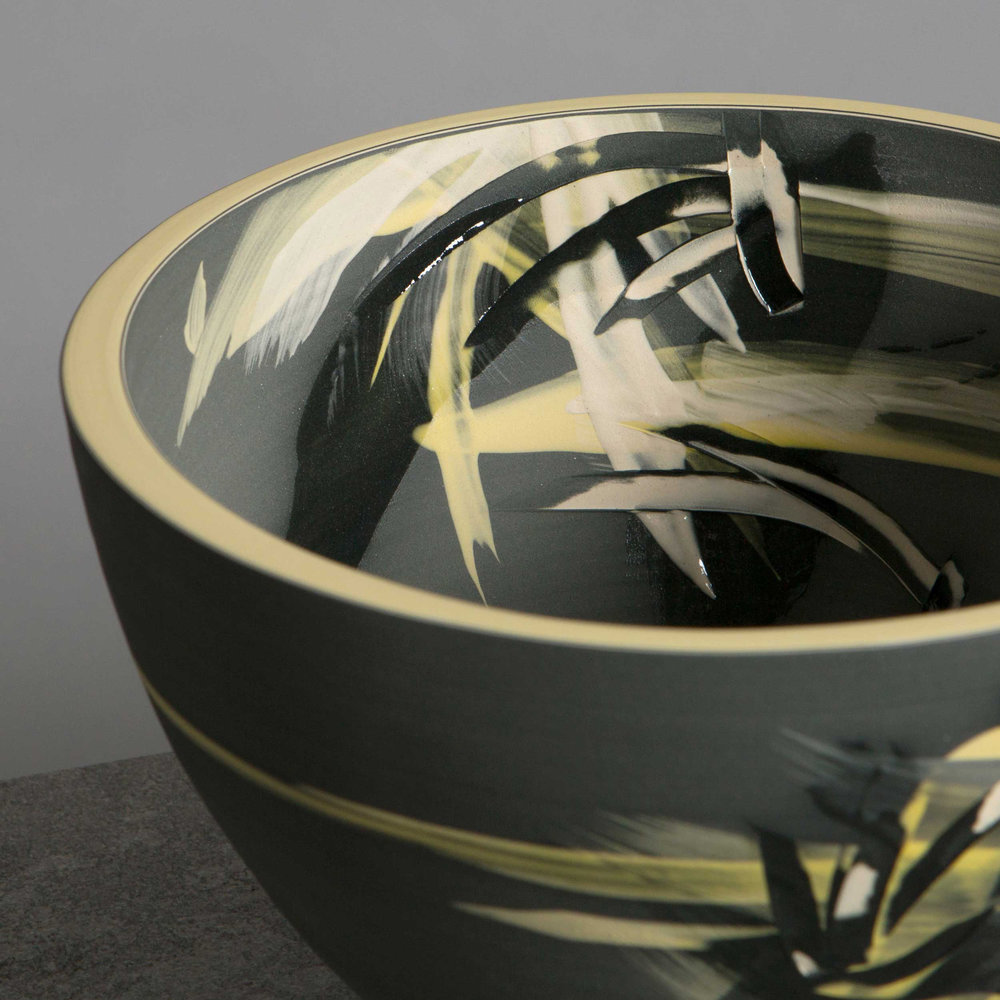 Above the Stars Ceramic Bowl Detaill by Rowena Gilbert