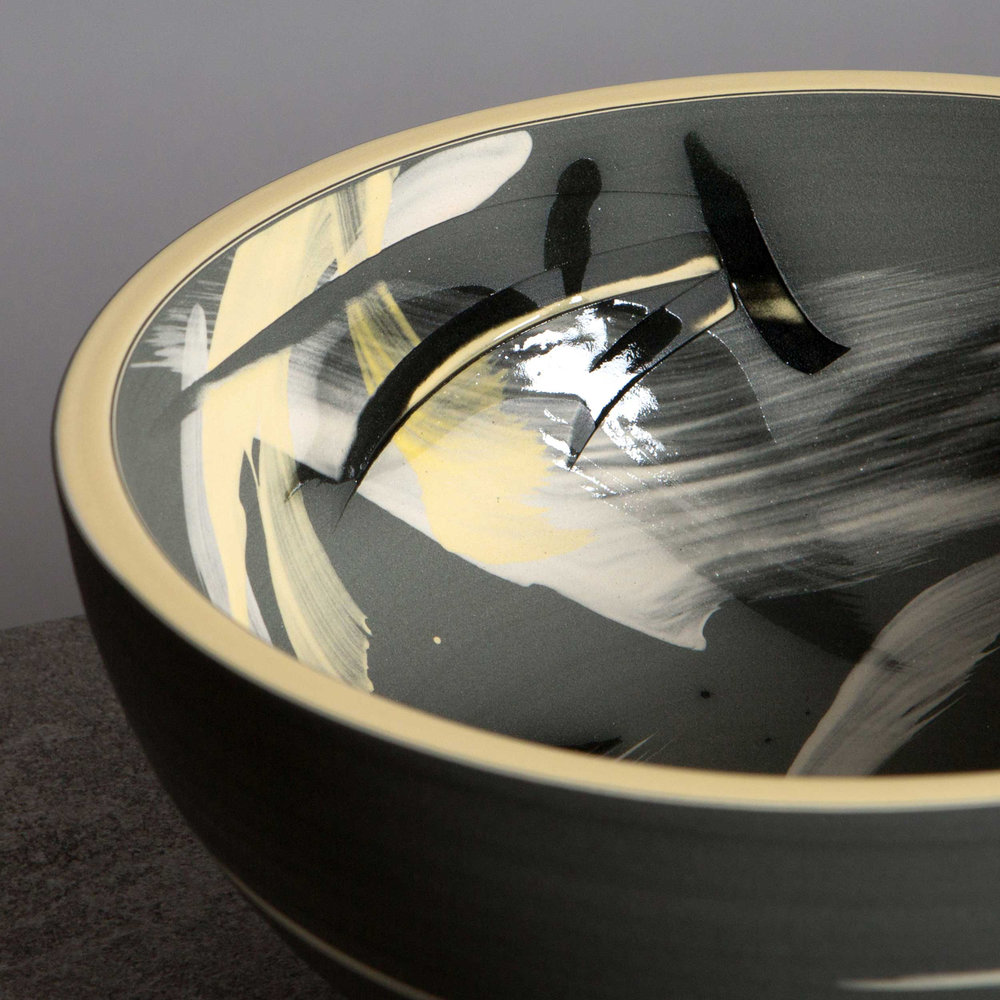 Ceramic Sgraffito Bowl Accretion of Stars by Rowena Gilbert