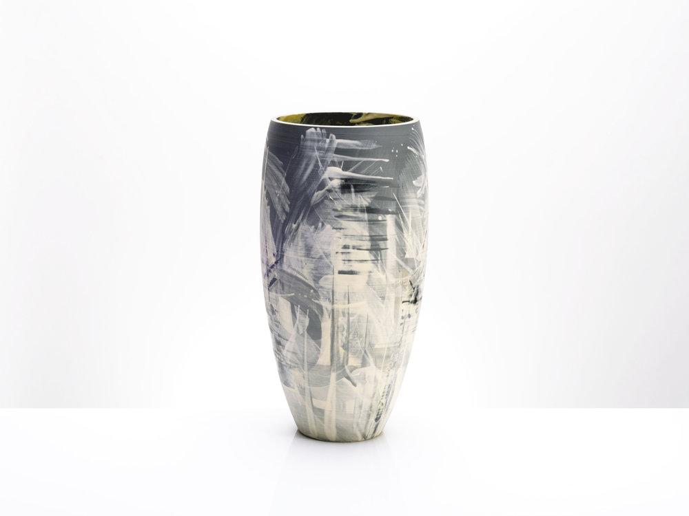 Large Ceramic Vase by Rowena Gilbert Above the Stars Series