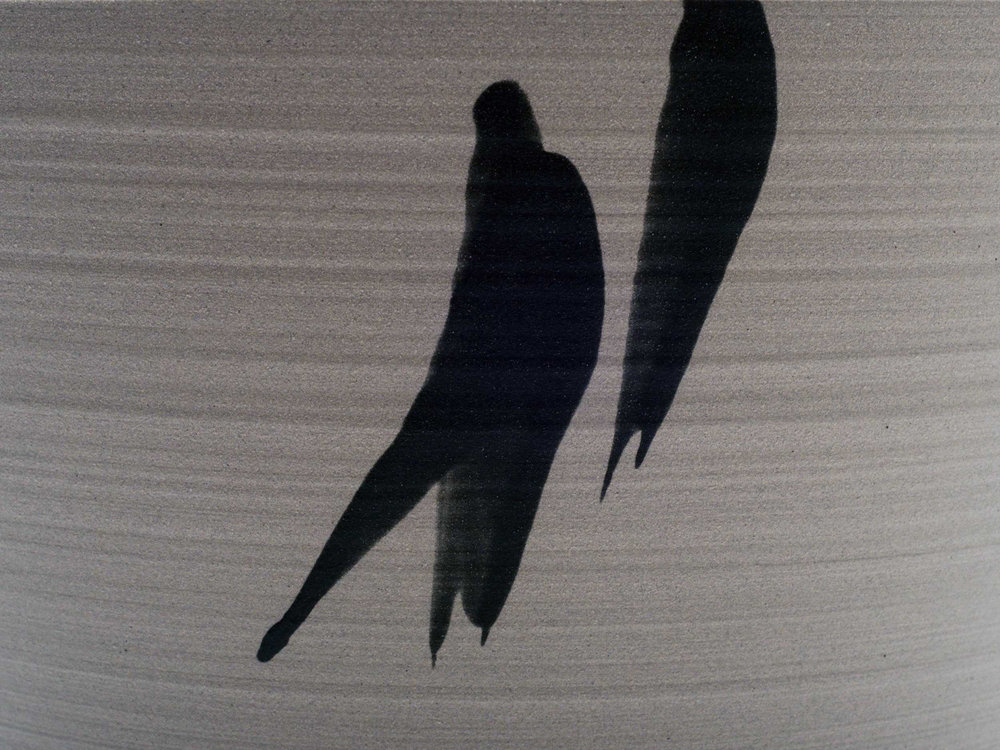 Grey Black Ceramic Detail by Rowena Gilbert