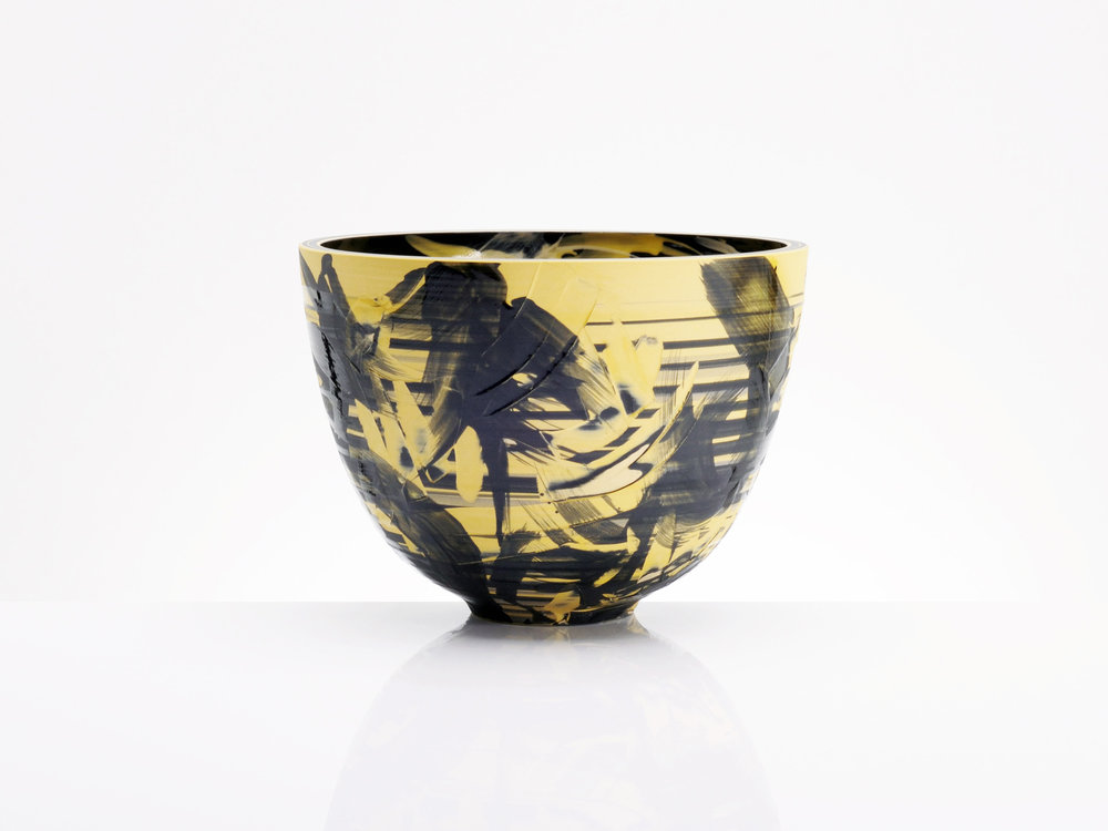 Star Formation Ceramic Bowl by Rowena Gilbert