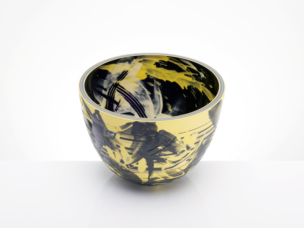 Deep Space Ceramic Bowl by Rowena Gilbert