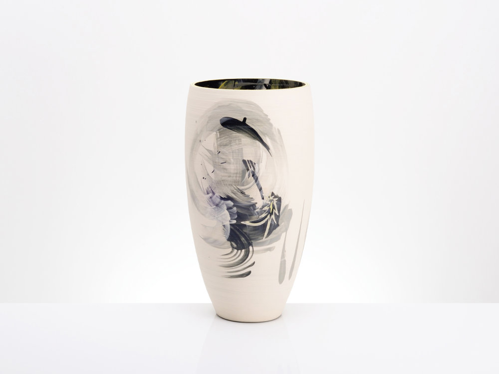 Shooting Star Large Ceramic Vase by Rowena Gilbert
