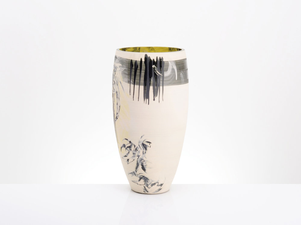 Luxury Cream White Large Vase by Rowena Gilbert