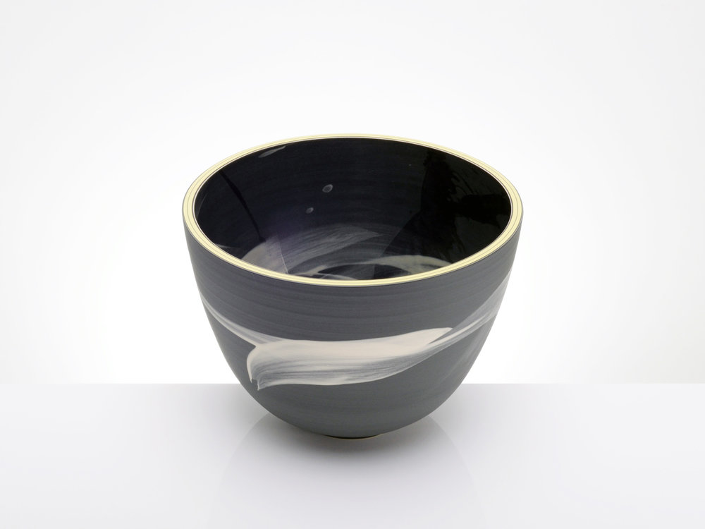 Feng Shui Spirital Black Bowl by Rowena Gilbert