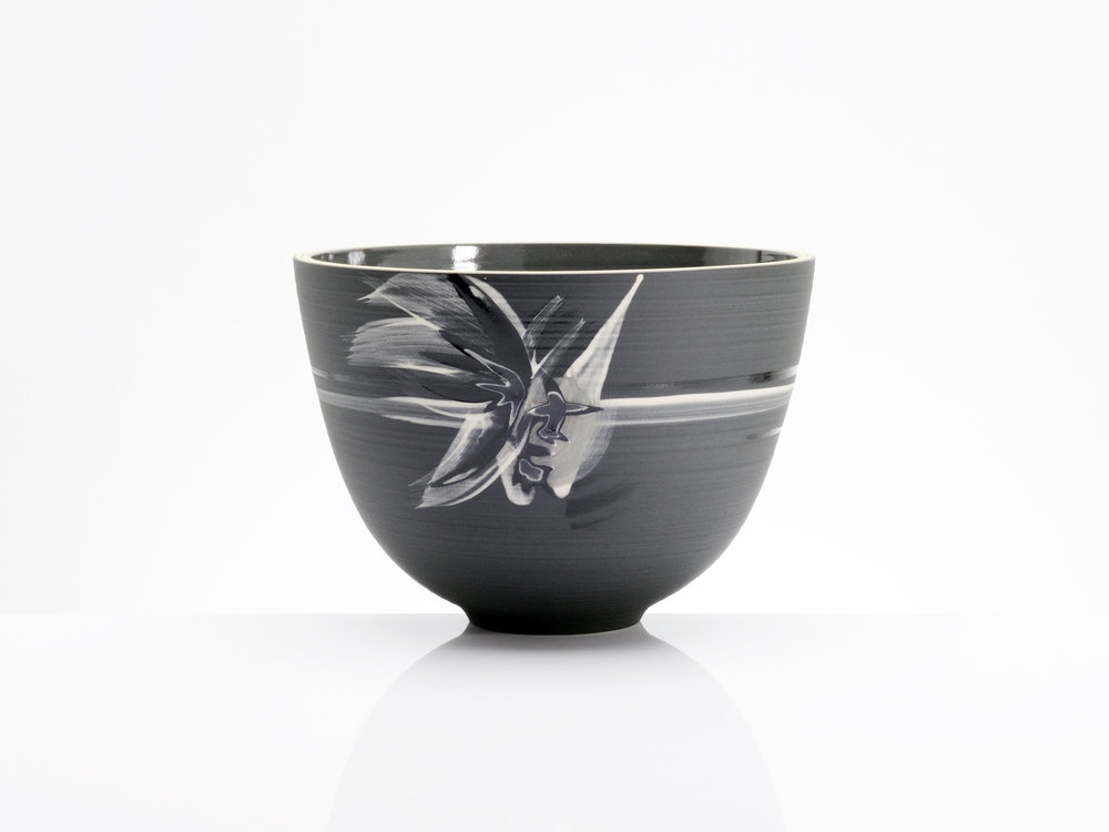 Star Wars Black Ceramic Bowl by Rowena Gilbert