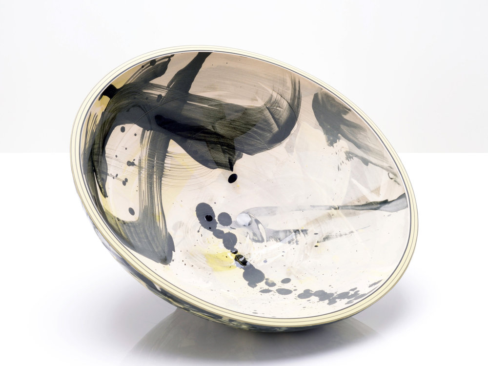 Abstract Star Ceramic Bowl by Rowena Gilbert