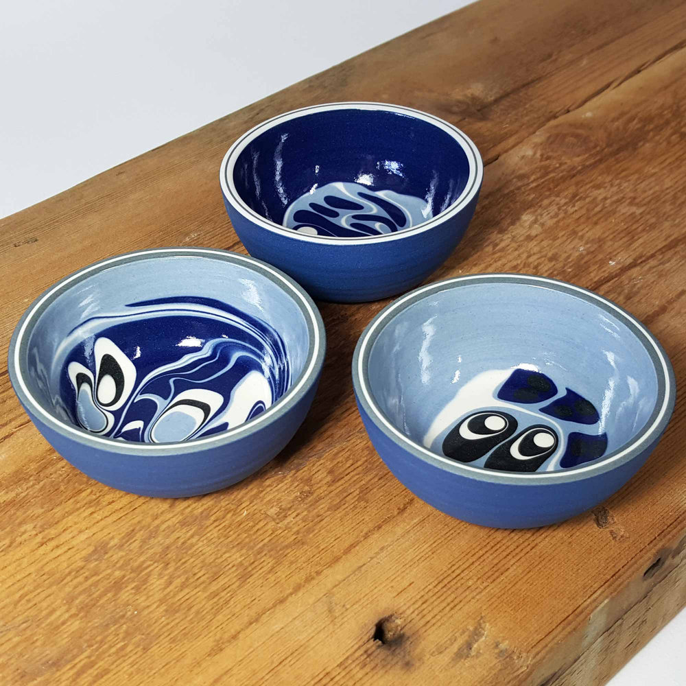 Ocean Dreams Series Now Available to Buy Online as a Set of 3 Chiisana Bowls, or individually.   www.rowenagilbert.com/shop