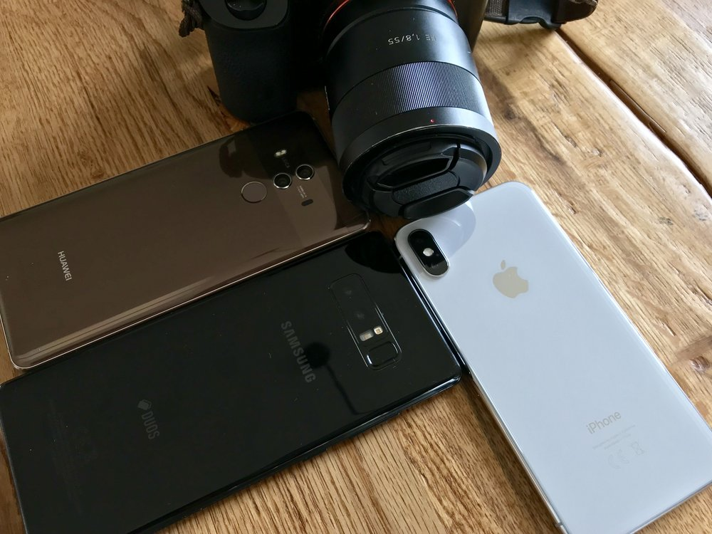 Sony A7 vs iPhone X vs Galaxy Note 8 vs Mate 10