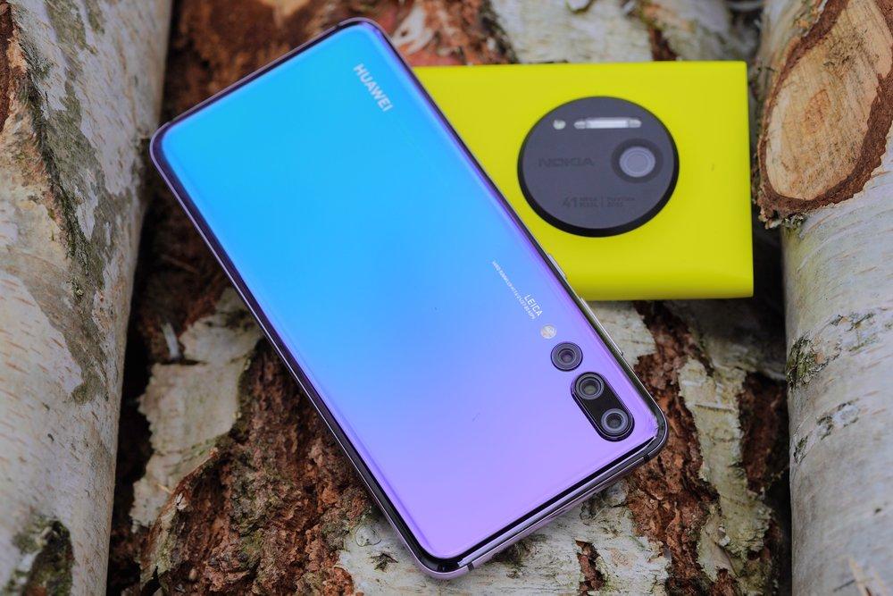 nokia lumia 1020 and huawei p20 pro