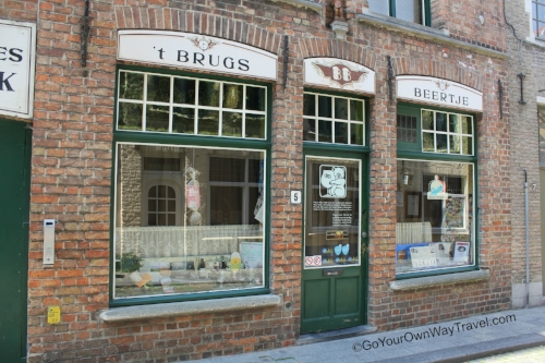 Grab a belgian beer (or two) at this unassuming beer bar in bruges