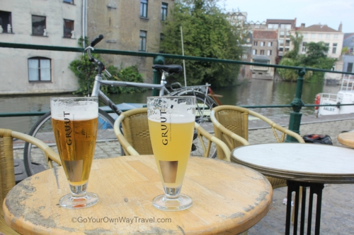 Visit the local brewery and enjoy a beer by the water in ghent