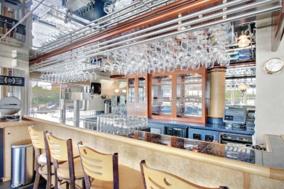 Each vessel has its own vibe - such as this modern wine bar