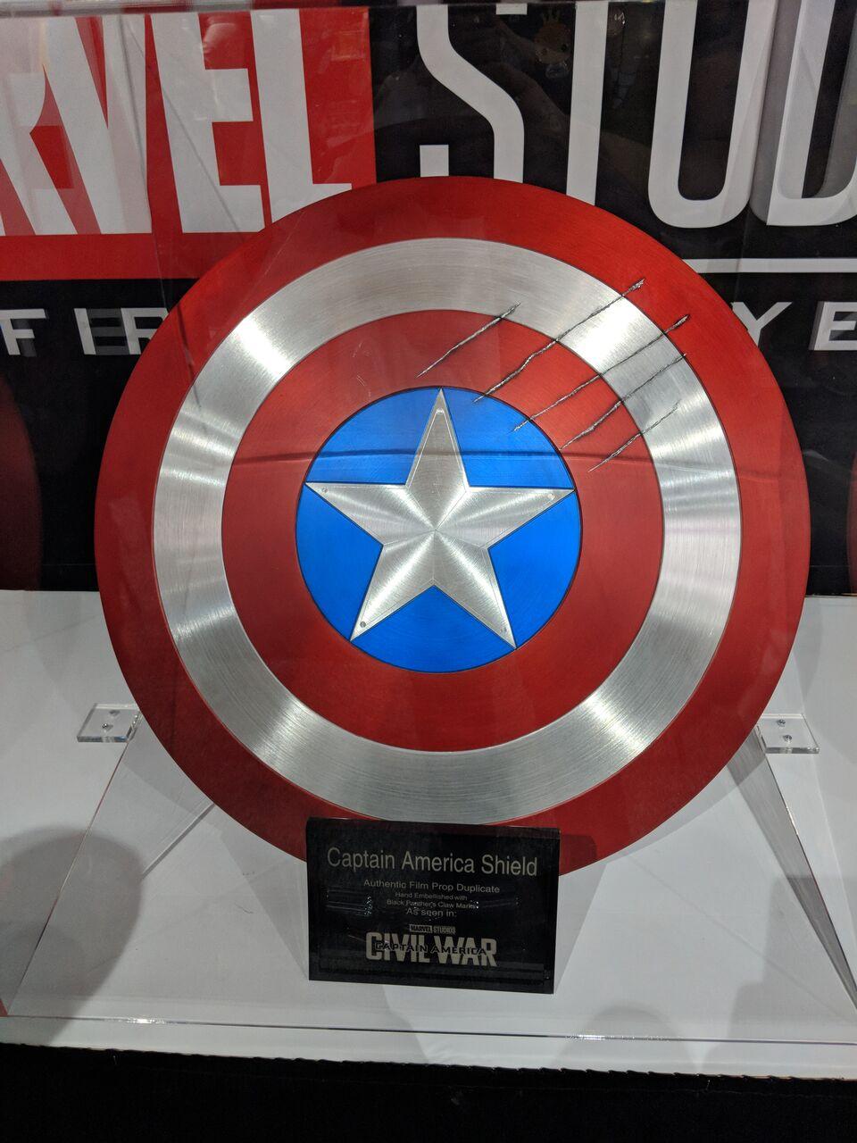 CAPTAIN AMERICA'S shield from  Captain America: Civil War