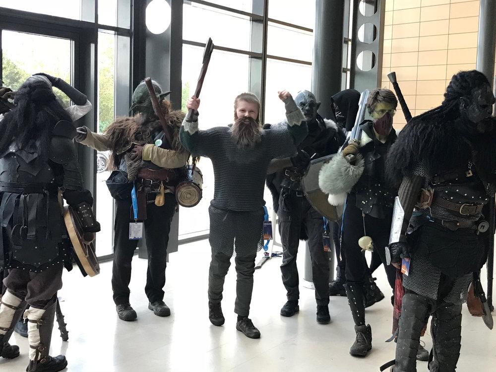 Stefán Logi Guðmundsson with other members of Íslenskt LARP (Kvikspuni)