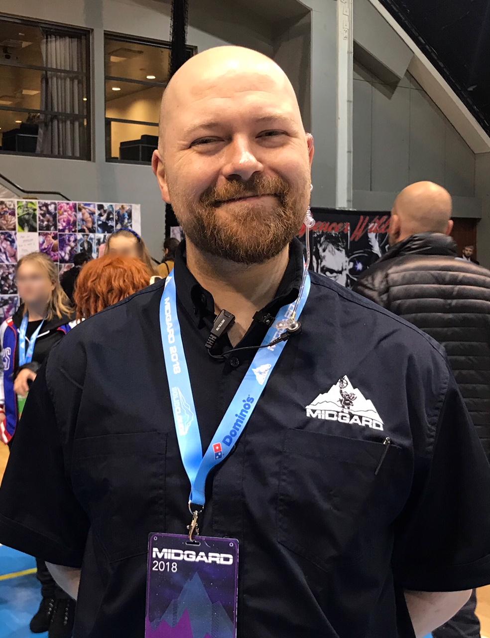 Sveinn Ólafur Lárusson one of Midgard's 2018 organizing staff members.