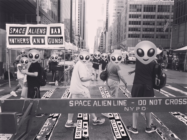 ALIEN INVASION - October 22, 2018PLEASE CONTACT OUR HOTLINE ON INSTAGRAM @SABMGOfficial OR AT OUR OTHER HANDLE @space_aliens_bad_mothers_guns IF YOU OR SOMEONE YOU KNOW HAS SPOTTED THE ALIENS AMONGST US!