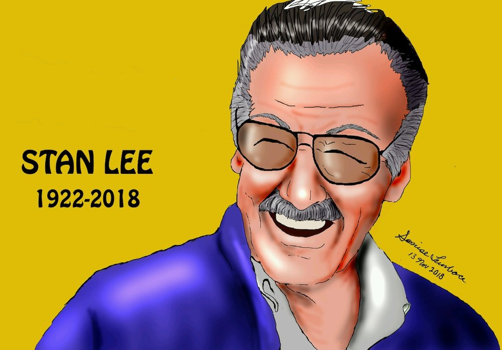 Stan Lee - Our hearts are heavy with sadness hearing about the passing of Stan Lee. For some of us, it was almost as if we knew he would always be here with us. Each passing moment egged on our excitement of what would come next from him and his empire. Well, now the Universe has him and we hope he is there doing what he loves best.Stan Lee, the Man, will be missed, but he will live on in our hearts as we continue to dare to dream. Seeing any one of his characters, we hope, will almost be the same as seeing him. Each time we see Black Panther, Spider-Man, The Hulk, and Jean Grey or any superhero for that matter, we will be reminded of the great impact he had on all of us and the way he revolutionized the comic world.