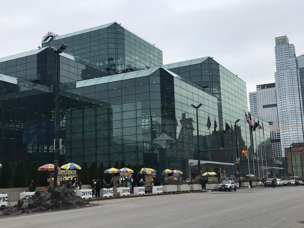 Exterior of Javitz Center. Even the street vendors lined up for this event.
