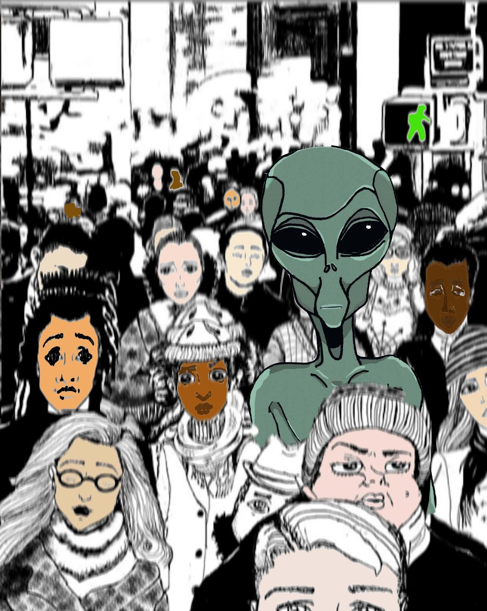 THE ALIEN AMONGST US - Would you say anything if you saw one? One might think you are absolutely crazy. But would you? Let's just say you are at home, alone and laying in your bed. It's some time after 3:00AM. Suddenly, the door creeps open and you are suddenly alarmed because your kitty, or pooch, is lying right next to you fast asleep. You are surprised that the little monster didn't wake up to warn or protect you. Sure when it's time to eat, a little shake of the bag yields a different outcome.You feel the presence in your room. You are not alone. Slowly your eyes open half-massed to peak over the covers and then you see IT! IT is standing directly over you! Watching you expressionless with those large dark eyes. You faint and wake the next morning with a hazy recollection of your voyeur of fear (as you call IT). Do you tell anyone?