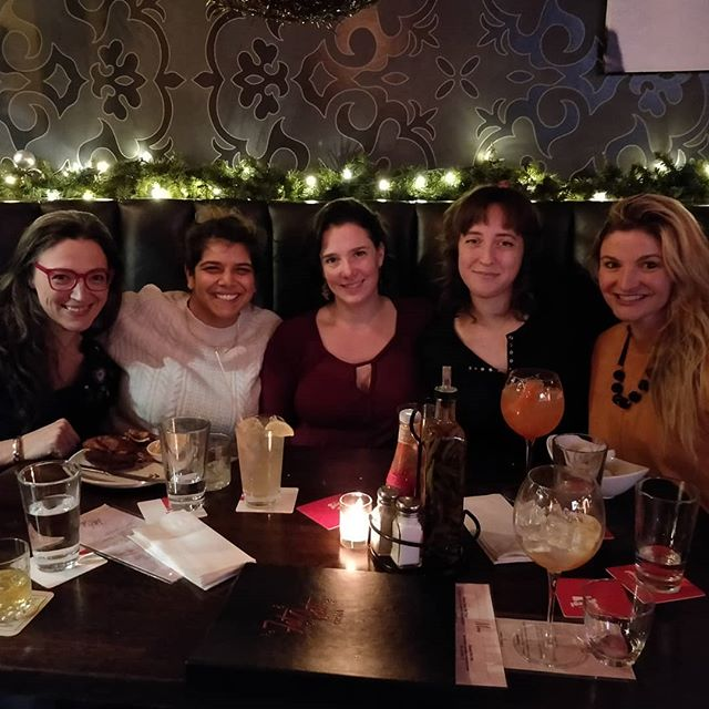 The Haven team (well, part of the team) together and celebrating the completion of Season One! Coming to you in 2019. Happy Holidays, everyone!  @mzlaylaw @gracehahn6 @meganstjohn_twe @reshmihazra @filthyyetigirl #WomeninFilm #womeninfilmchicago #webseries #makeyourown #bethechange #chicagofilmmakers #chicagofilmmaking #domesticviolence #contentcreators