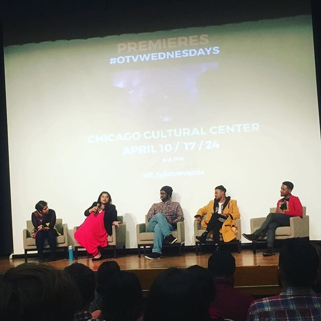 #TheHavenWebSeries co-collaborators, @reshmihazra and @priyamohanty at a screening and panel for their work @fobiaseries, along with the creators of @damagedgoodswebseries at the @weareotv #otvwednesdays premiere! Two terrific local #Chicago projects you should catch on #OpenTV #chicagofilmmakers #chicagofilm #originalcontent #womeninfilm #diversity #representation #blackfilmmakers