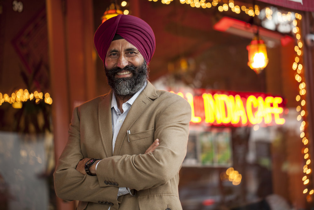 Santokh Singh Khinda, Owner - Husband and wife Santokh Singh Khinda and Parminder K. Khinda opened All India Cafe in 1996 to create an inviting Indian dining experience that is healthy, fresh, & that shows their genuine dedication to each and every guest.