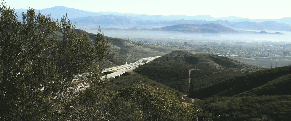 Mission Trails, towering over hazy suburbia