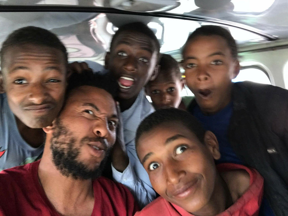 - Menge went and picked our boys up today from the camp they were being held at.  Eleven boys were transported to the home our Hope Overflowing team have been eagerly setting up. God's favor has been evident in all that we have been able to accomplish in the past week!