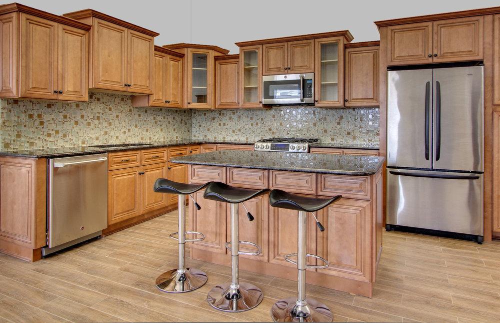 JK Cabinetry Cinnamon Maple Glazed — J&S Kitchen and Bath Designs