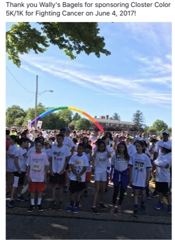 Closter Color run 2017 for the fight against cancer!