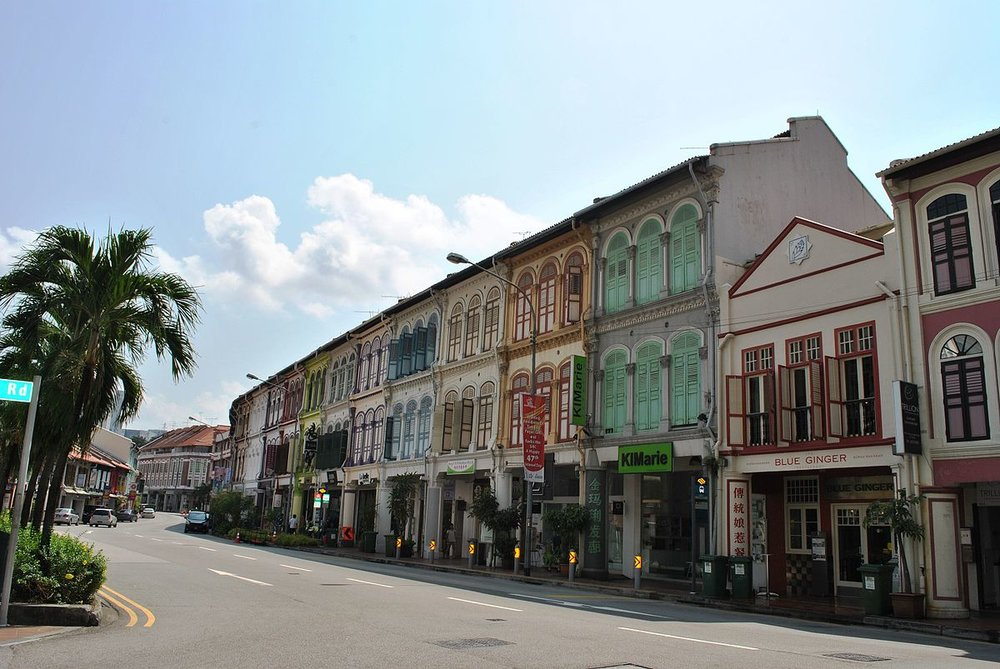 Tanjong Pagar is the first historic area in Singapore to be conserved under the government's conservation plan, which restored many of the area's buildings to their original appearance.