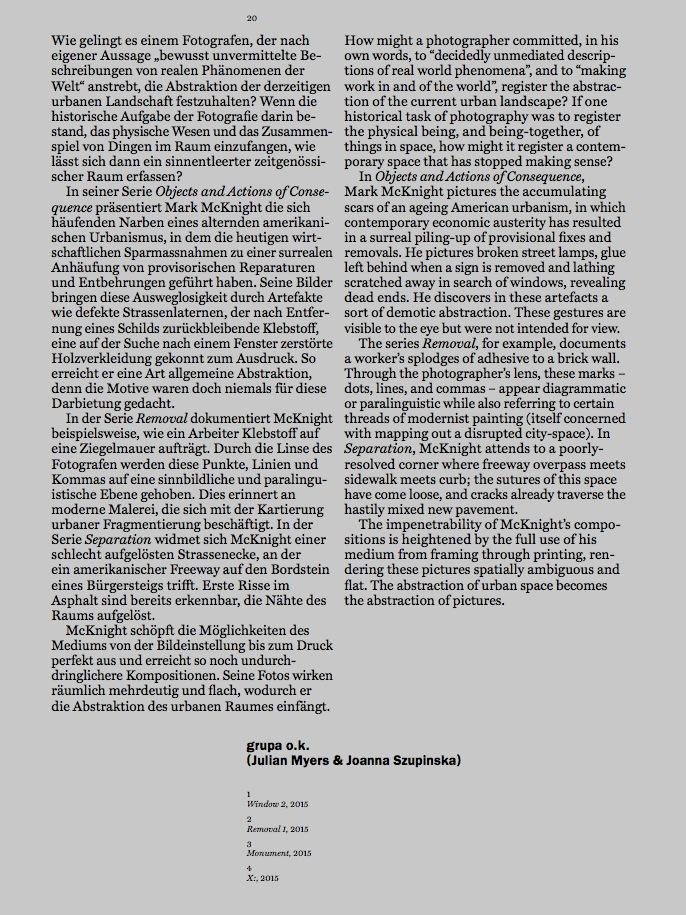 Biennial Catalog Essay , by grupa o.k. (Julian Myers & Joanna Szupinska),2015