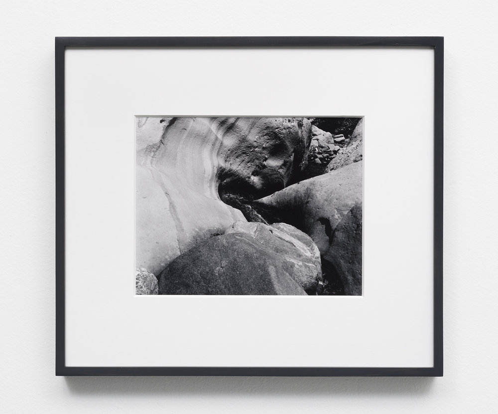 Untitled (Water Swirl),  8 x 10 inch selenium toned, silver gelatin print in 8 ply over-mat (13.5 x 15.5),painted wood frame, 2018