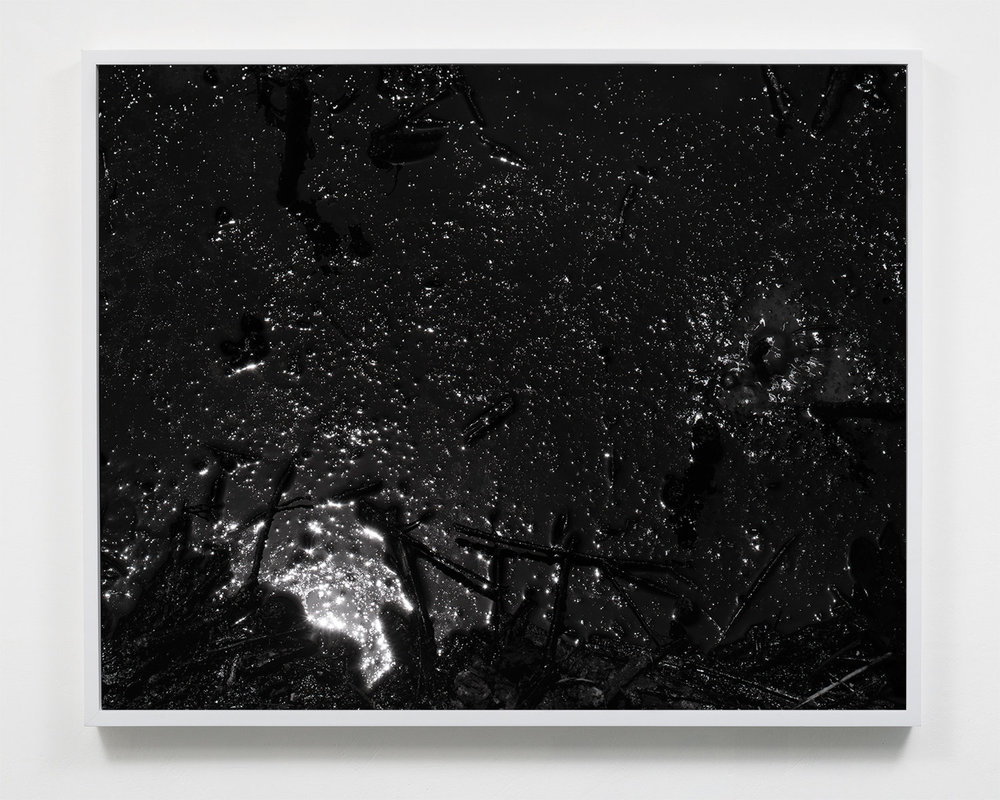 Applicant example 3: Mark McKnight,  Destructive Distillation (Tar Cosmos),  22.5 x 27.5, Selenium toned silver gelatin print, 2018.