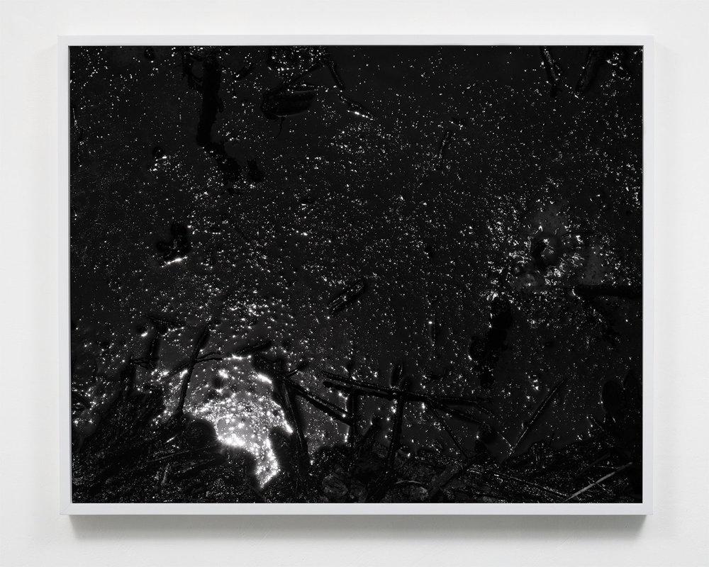 Applicant (Mark McKnight) work example 2:  Destructive Distillation (Tar Cosmos),  22.5 x 27.5, Selenium toned silver gelatin print, 2018.