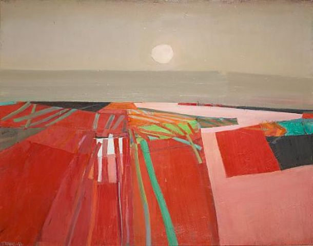 Raimonds Staprans red landscape - sold