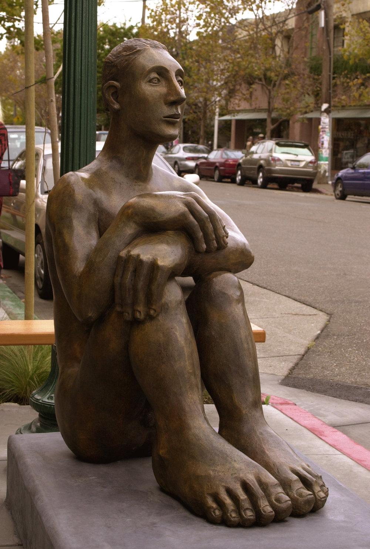 "Mavis McClure - ""Pablo"" bronze 52""h"