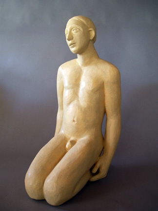 Mavis McClure clay kneeling man.jpg
