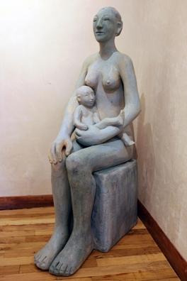 mavis woman and child (blue) 2016.jpg