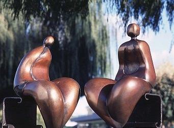 Nantua pair - Robert Holmes sculpture