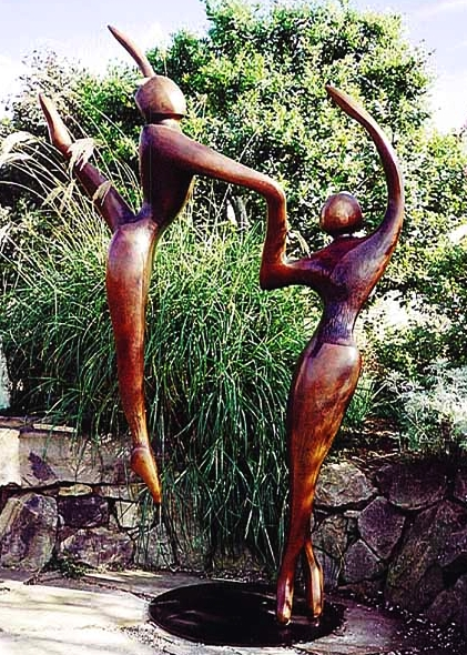 Ascending Dancers - Robert Holmes sculpture